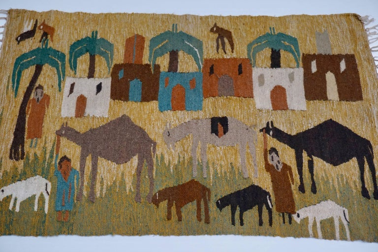 20th Century Tapestry in Wool from the Studio of Ramses Wissa Wassef For Sale