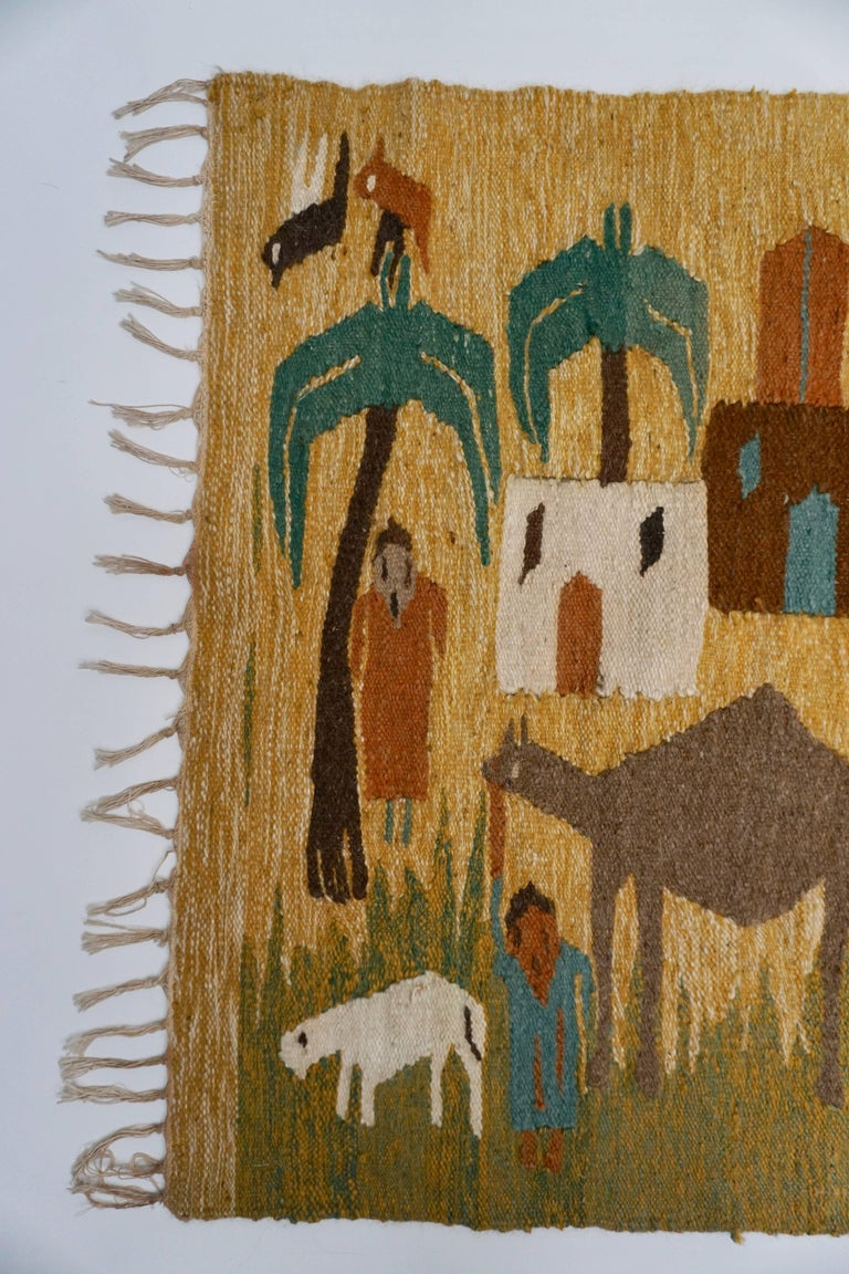 Tapestry in Wool from the Studio of Ramses Wissa Wassef For Sale 1