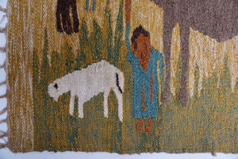 Tapestry in Wool from the Studio of Ramses Wissa Wassef For Sale 2