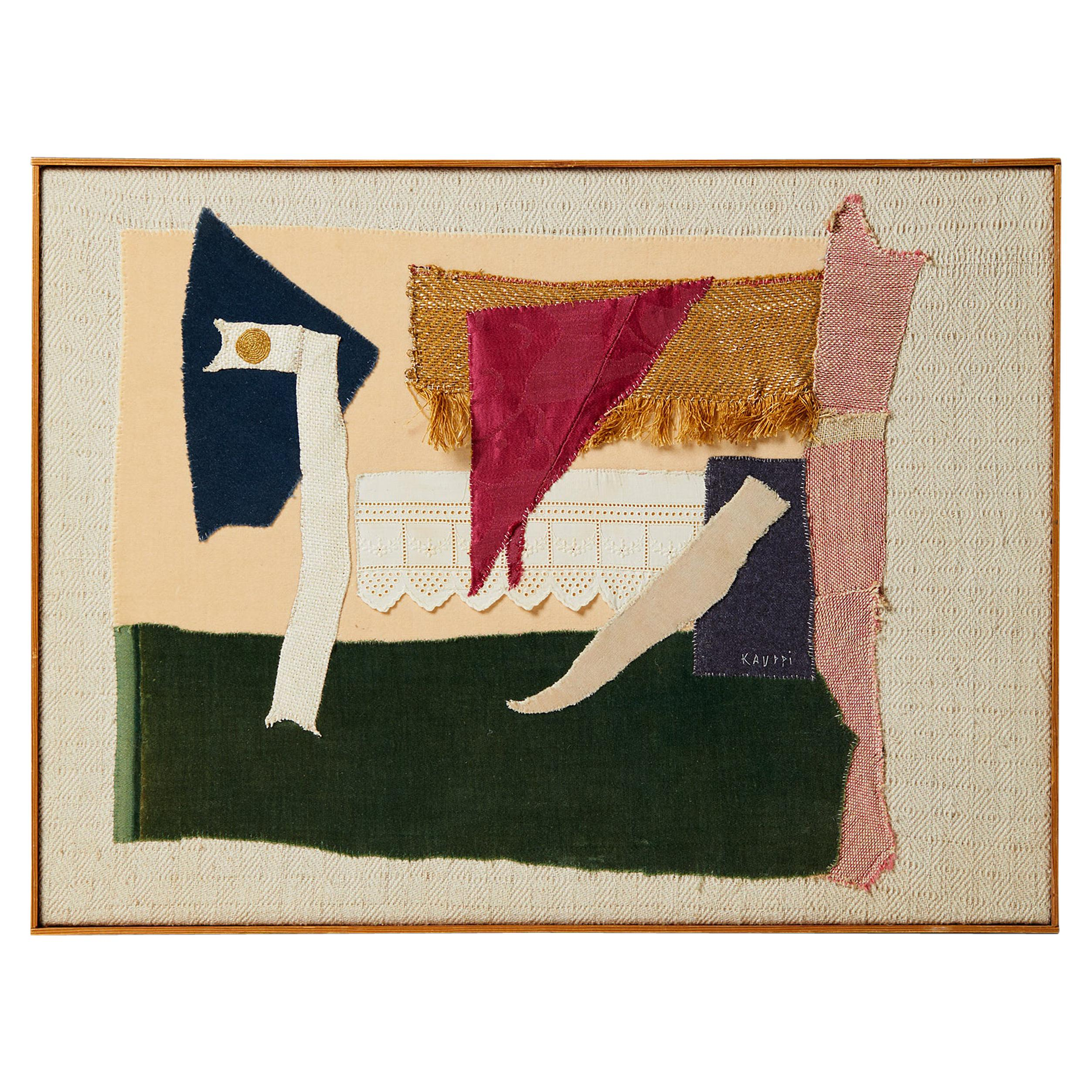 Tapestry or Collage by Sten Kauppi, Sweden, 1970s