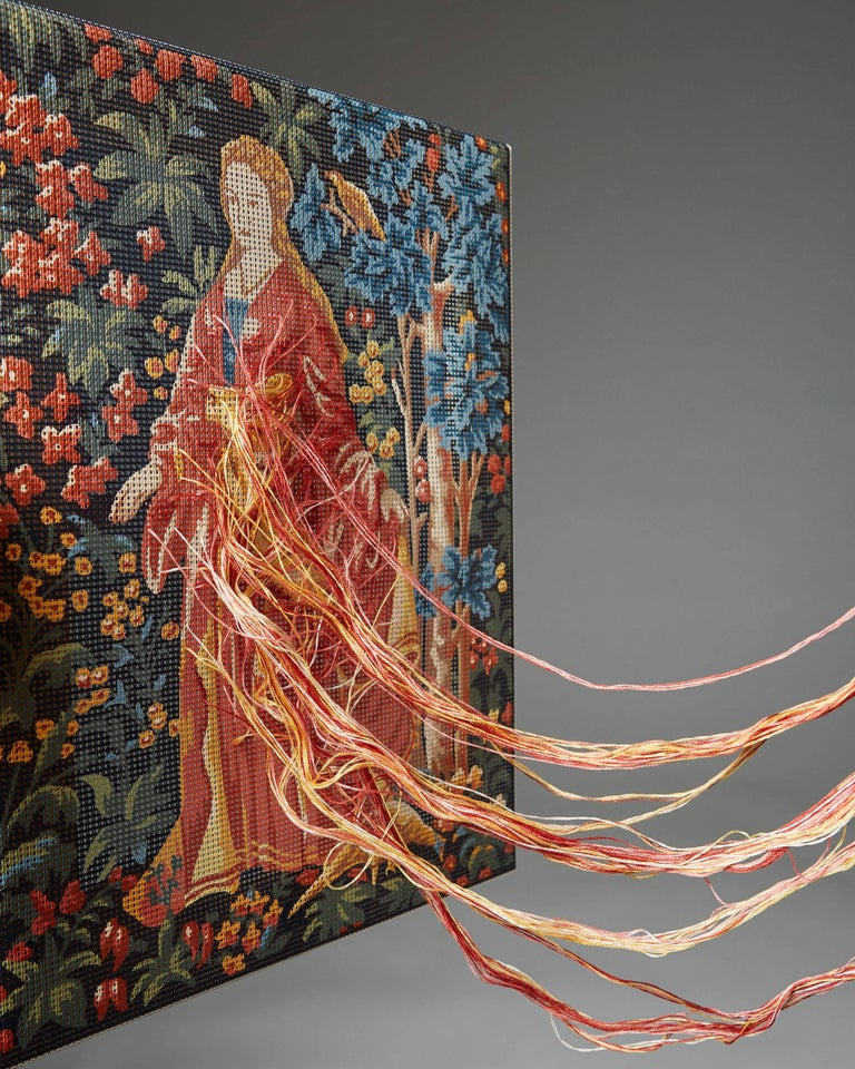 Swedish Tapestry Painting by Elisabeth Westerlund, Sweden, 2004