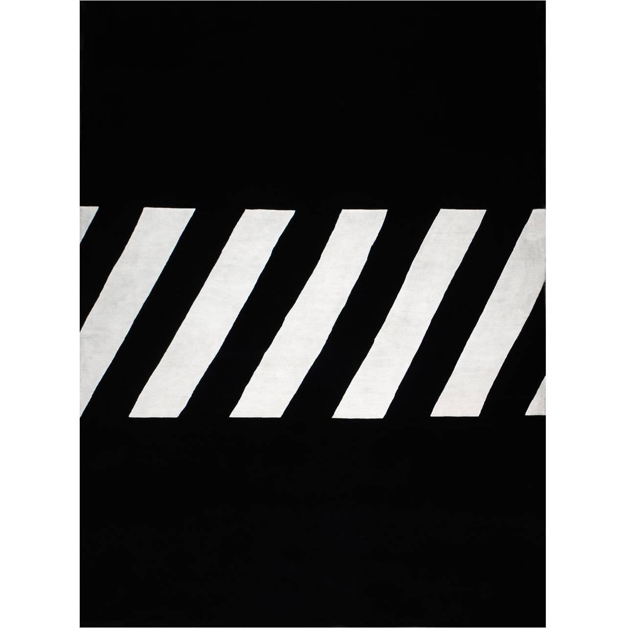 "Contemporary Rug ""Tapete de Asfalto"" in New Zealand Wool"