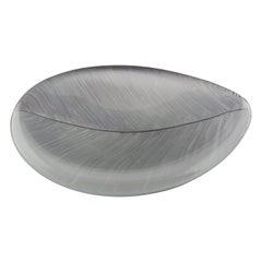 """Tapio Wirkalla - Crystal Art object """"leaf"""", Model 3337 - Ittala Finland, 1950's"""