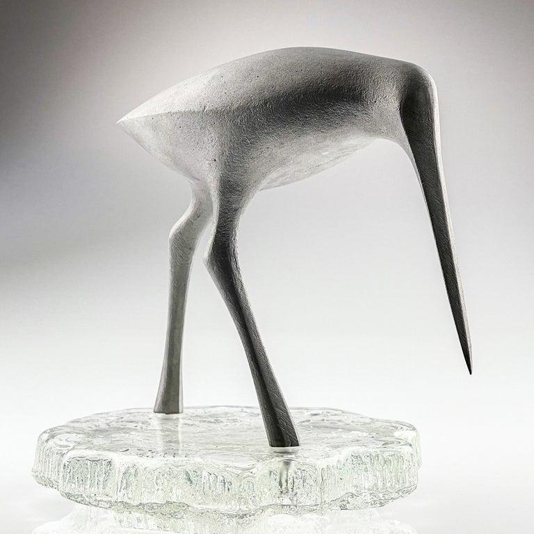 Scandinavian Modern Tapio Wirkkala, Birdsculpture on Glass Stand, Model TW 513, Kultakeskus ca. 1975