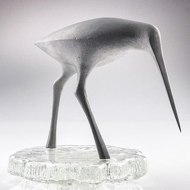 Finnish Tapio Wirkkala, Birdsculpture on Glass Stand, Model TW 513, Kultakeskus ca. 1975