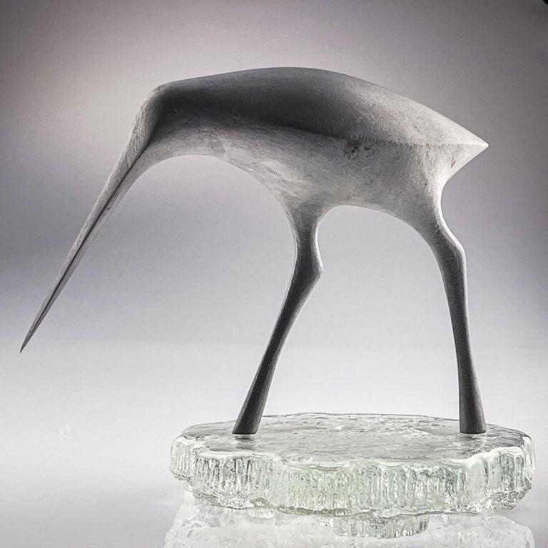 Late 20th Century Tapio Wirkkala, Birdsculpture on Glass Stand, Model TW 513, Kultakeskus ca. 1975