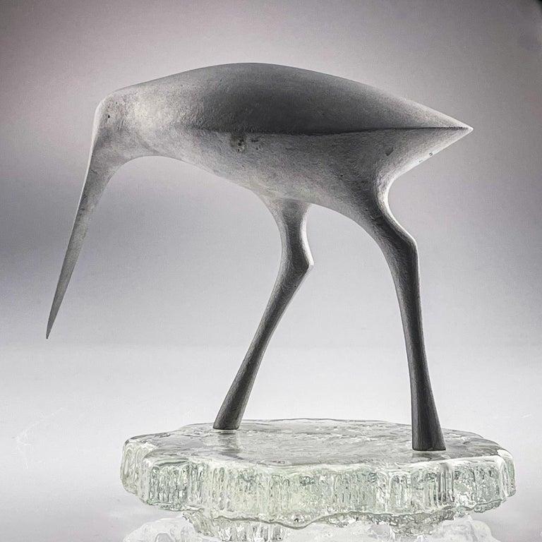 Tapio Wirkkala, Birdsculpture on Glass Stand, Model TW 513, Kultakeskus ca. 1975 1