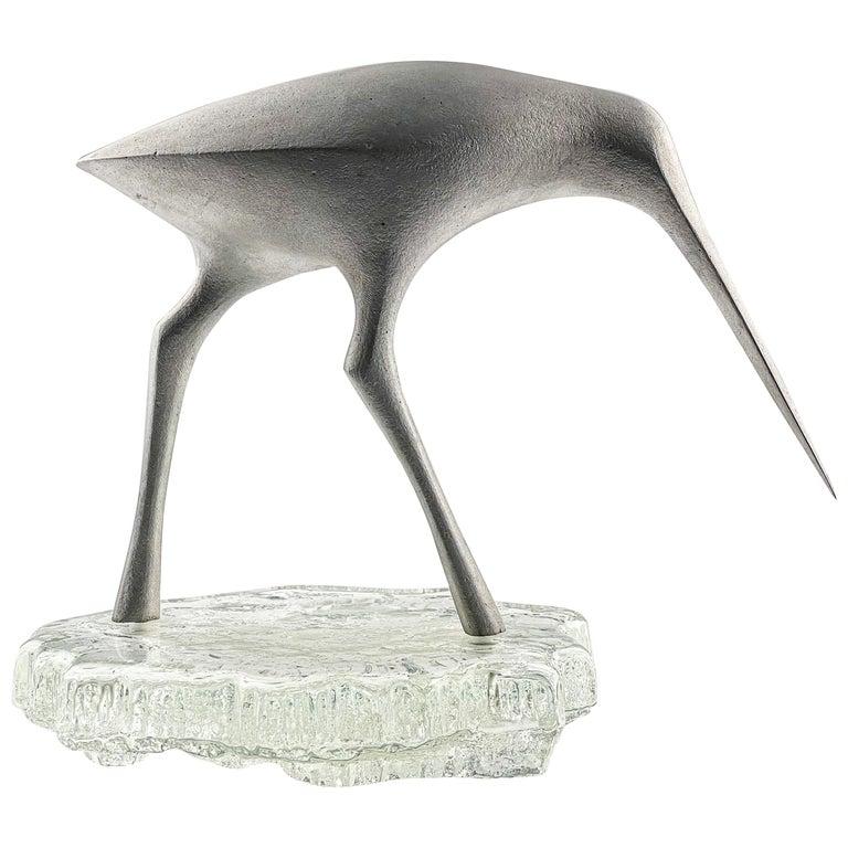 Tapio Wirkkala, Birdsculpture on Glass Stand, Model TW 513, Kultakeskus ca. 1975