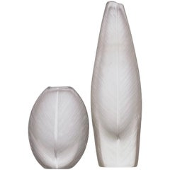 Tapio Wirkkala, Comb-Cut Crystal Art-Objects, Model 3122 & 3123, Iittala, 1950s