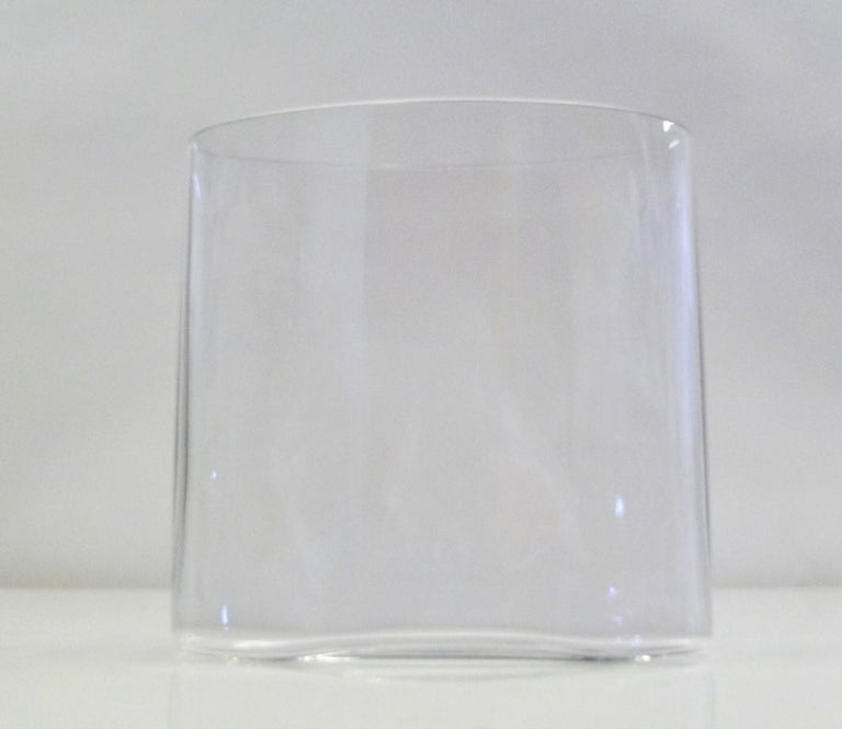 Mid-20th Century Tapio Wirkkala Early Set of Two Clear Ovalis Vessels 1960s for Iittala Finland For Sale