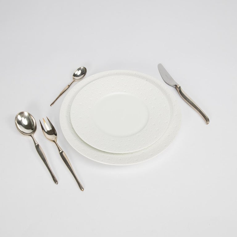 Mid-Century Modern Tapio Wirkkala, Finland, Silver Plated Cutlery Set For Sale
