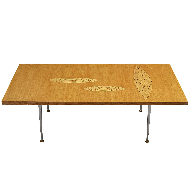 Tapio Wirkkala for Asko Coffee Table in Birch with Plywood Inlays