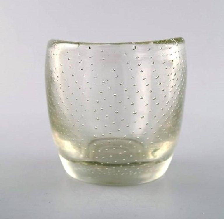 Tapio Wirkkala For Iittala Finland 1960s Clear Art Glass Vase At