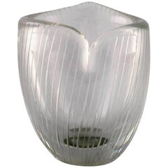 Tapio Wirkkala for Iittala, Finland, circa 1960, Clear Glass Vase