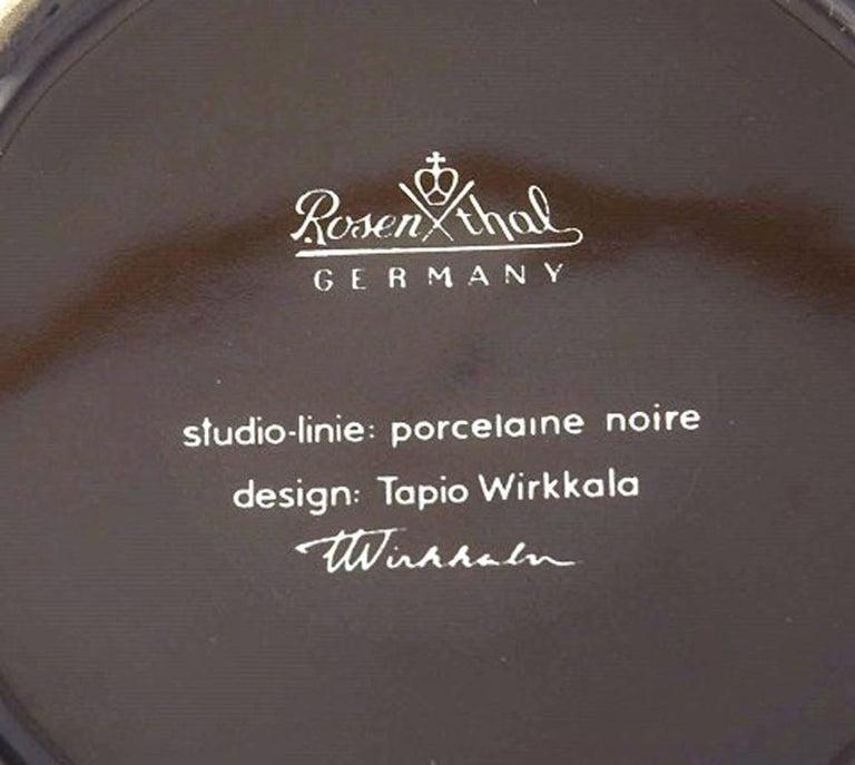 Tapio Wirkkala for Rosenthal Studio-Line Porcelain Noire, Ten Pc. Coffee Service In Excellent Condition For Sale In Copenhagen, Denmark