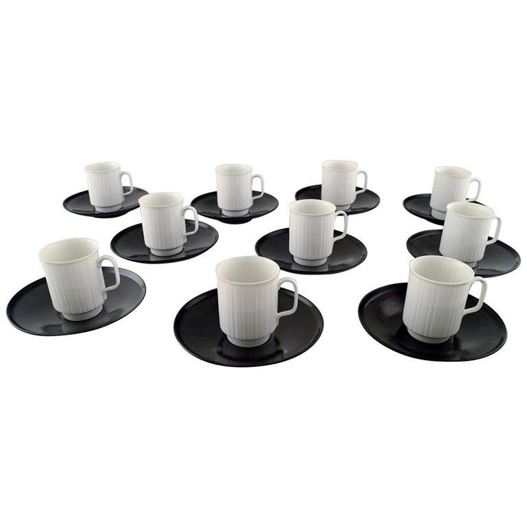 Tapio Wirkkala for Rosenthal Studio-Line Porcelain Noire, Ten Pc. Coffee Service For Sale