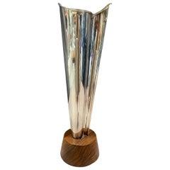 Tapio Wirkkala Kultakeskus Oy 1967 Finland Sterling Silver Flame Vase