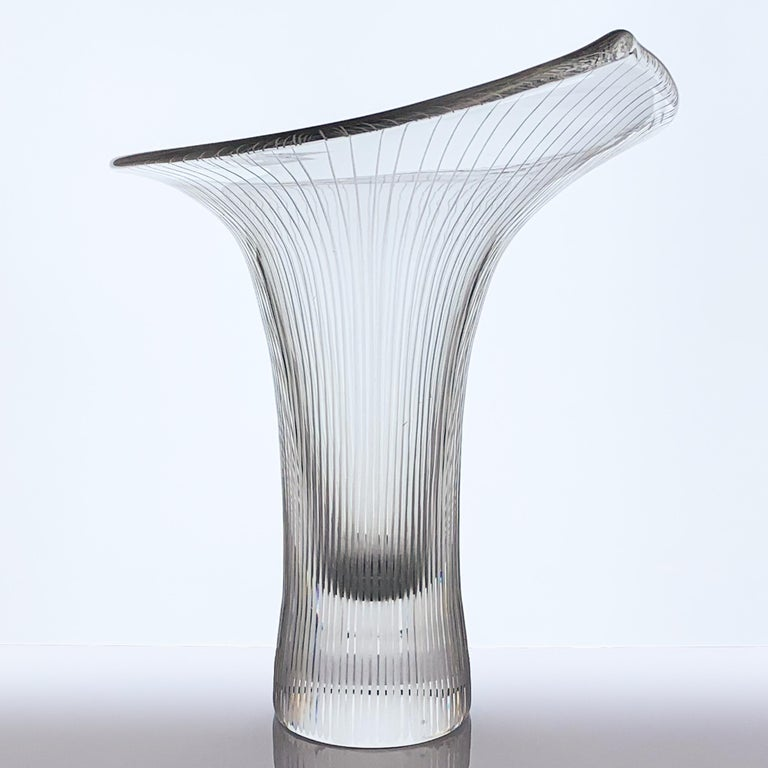 Engraved Tapio Wirkkala, Large Crystal Art-Object