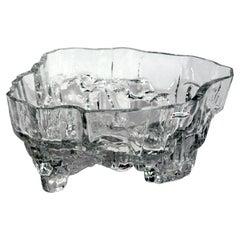 Tapio Wirkkala Mid-Century Glass Footed Bowl, Inari