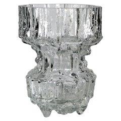 "Tapio Wirkkala Mid-Century Modernist ""Gerania"" Glass Vase, Model Number 3431"