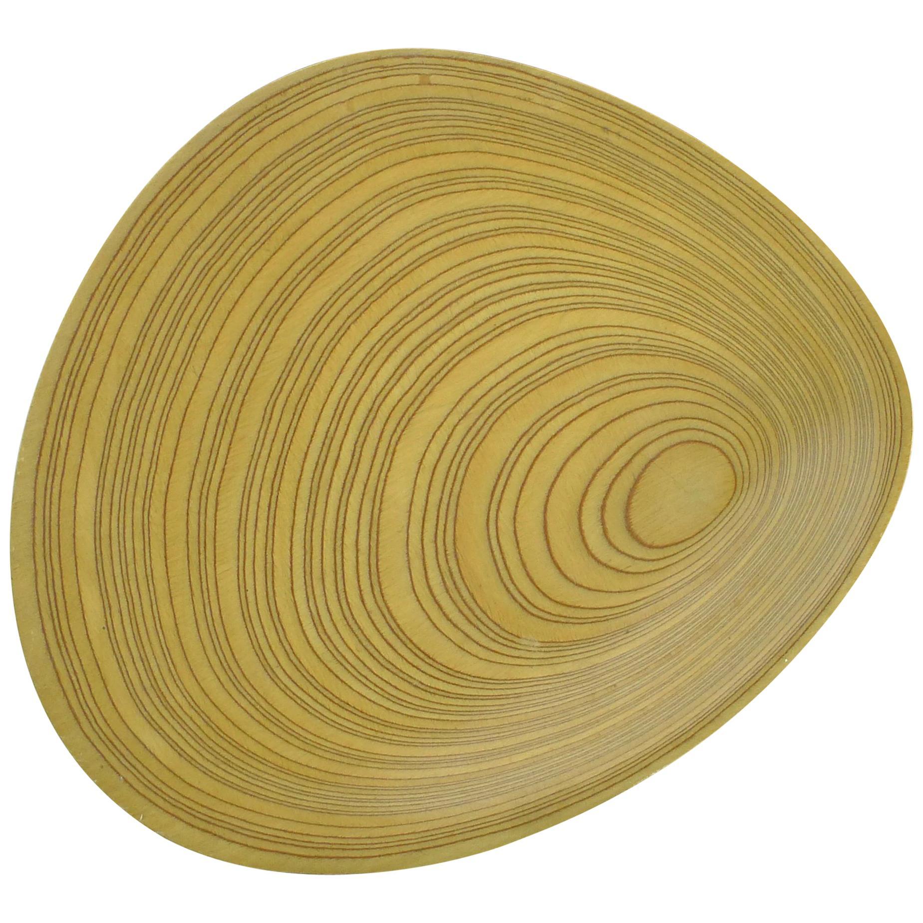 "Tapio Wirkkala Plywood ""Leaf"" Dish, Large and Signed, 1950s, Finland"