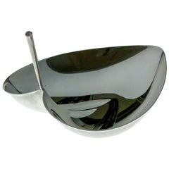 Tapio Wirkkala, Sterling Silver Leaf-Shaped Bowl, Model TW 4, Kultakeskus, 1963