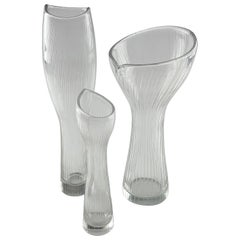 Tapio Wirkkala, Three Crystal Art Objects, Iittala, Finland, 1950s