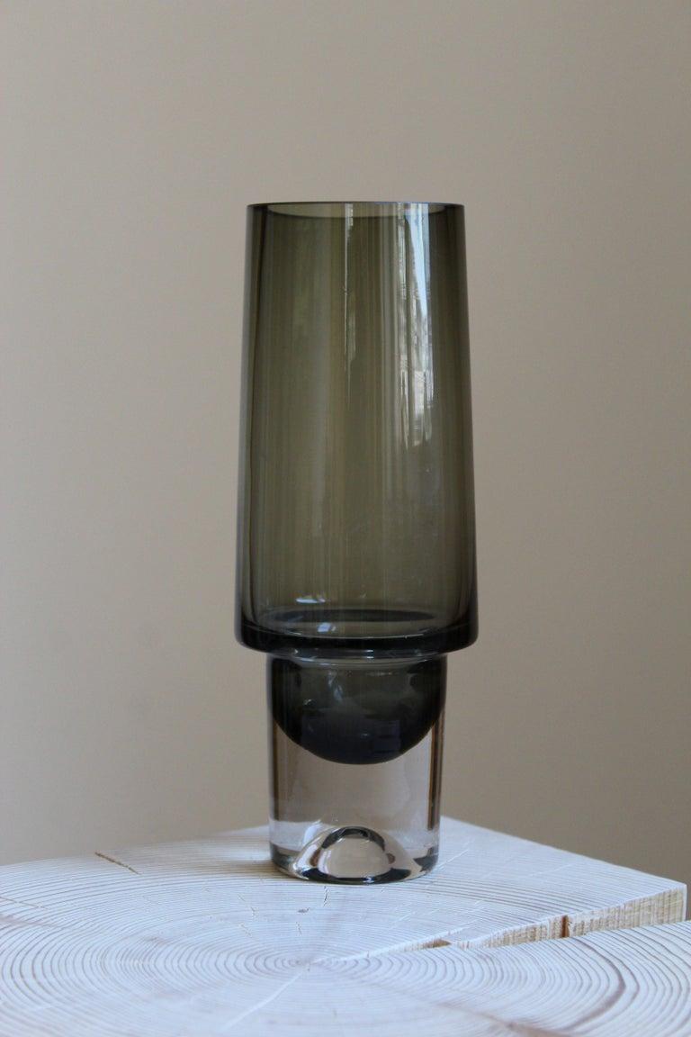 Danish Tapio Wirkkala, Vase, Blown Glass, Iittala, Finland, 1960s For Sale