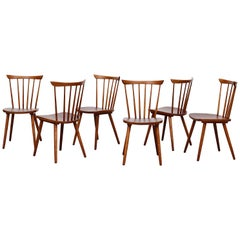 Tapiovaara Style Spindle Back Dining Chairs