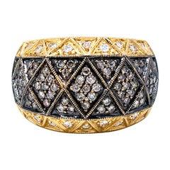 Tapistry, Black Diamond .85 Cara, Ring, 18 Karat Gold