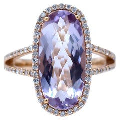 Tapistry, Halo Kunzite Diamond Pink Gold, Ring