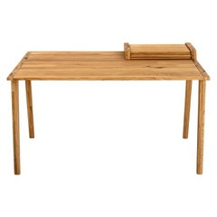Tapparelle Desk, in Solid Oak, Inspired by Ancient Roll-Up Shutter Office