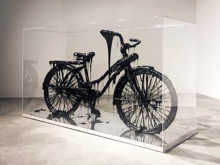 Contemporary Tar Bicycle by Mattia Biagi For Sale
