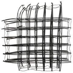 Tar Black Wall Sculpture by Fransje Gimbrere