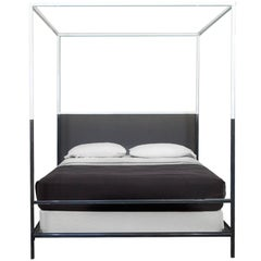 Iron Two-Tone Canopy Bed