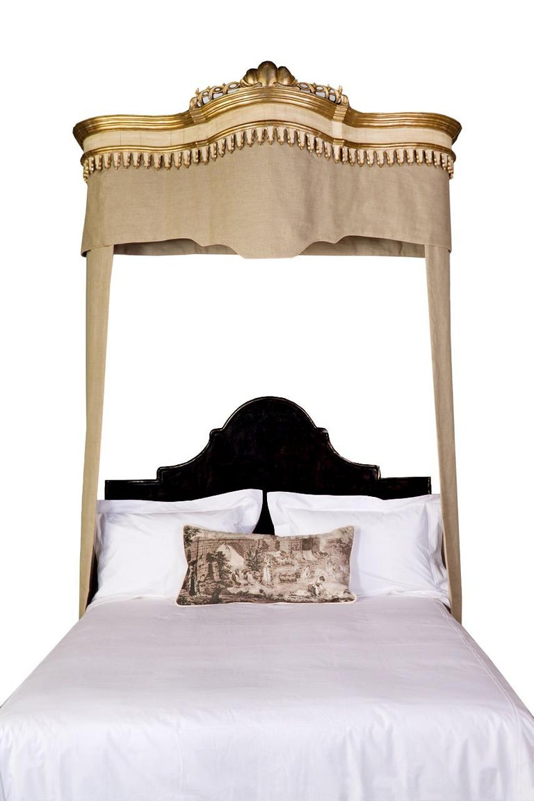 This elegant Venetian-style iron headboard is part of the custom Tara Shaw Maison collection. Handcrafted in New Orleans. Available in King, Queen and Twin sizes. Inquire for Full, California King and European sizes.  Custom dimensions, finish and