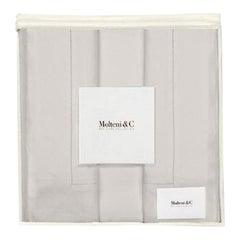 Molteni&C Tarascona Queen Size Premium Linen Duvet Bedding Set in Pearl Grey
