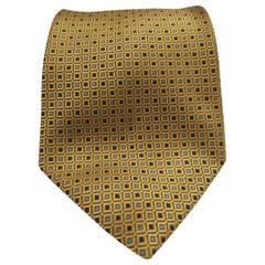 Target gold blue silk tie