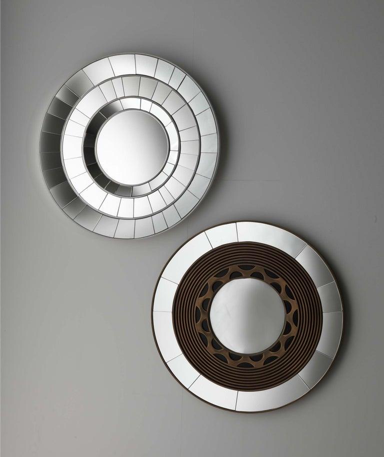 Mirror in fin. Liquid metal - zinc Diameter cm. 85.