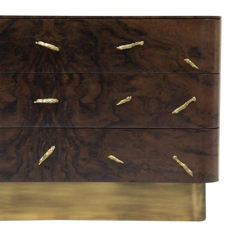 Brass Tarius Chest of Drawers For Sale