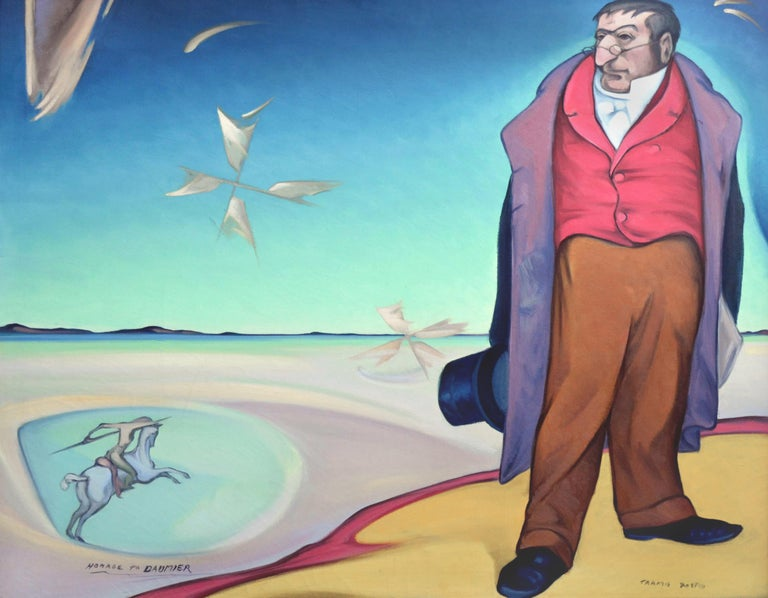 Homage To Daumier by Tarmo Pasto For Sale 1