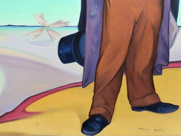 Homage To Daumier Surrealist Figurative For Sale 1