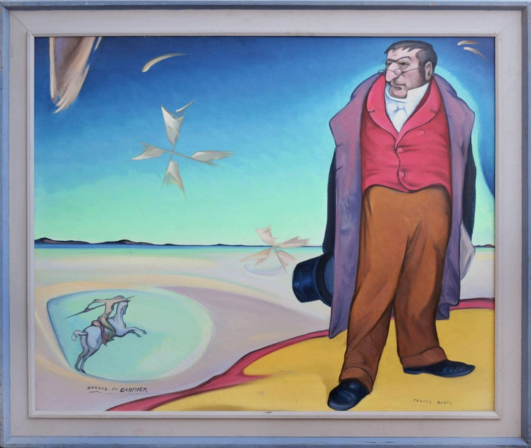 Tarmo Pasto Abstract Painting - Homage To Daumier Surrealist Figurative