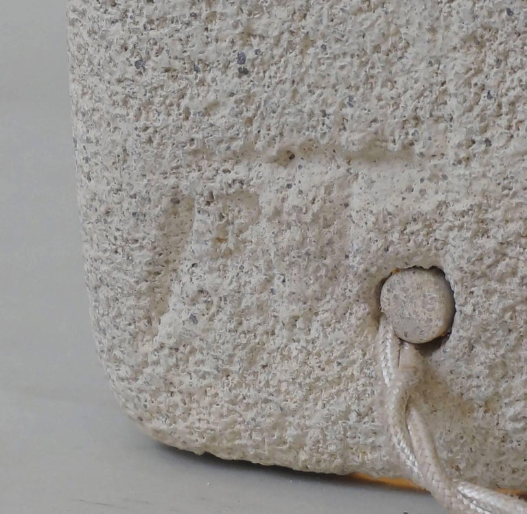 French Tarnos Stone Table Lamp For Sale