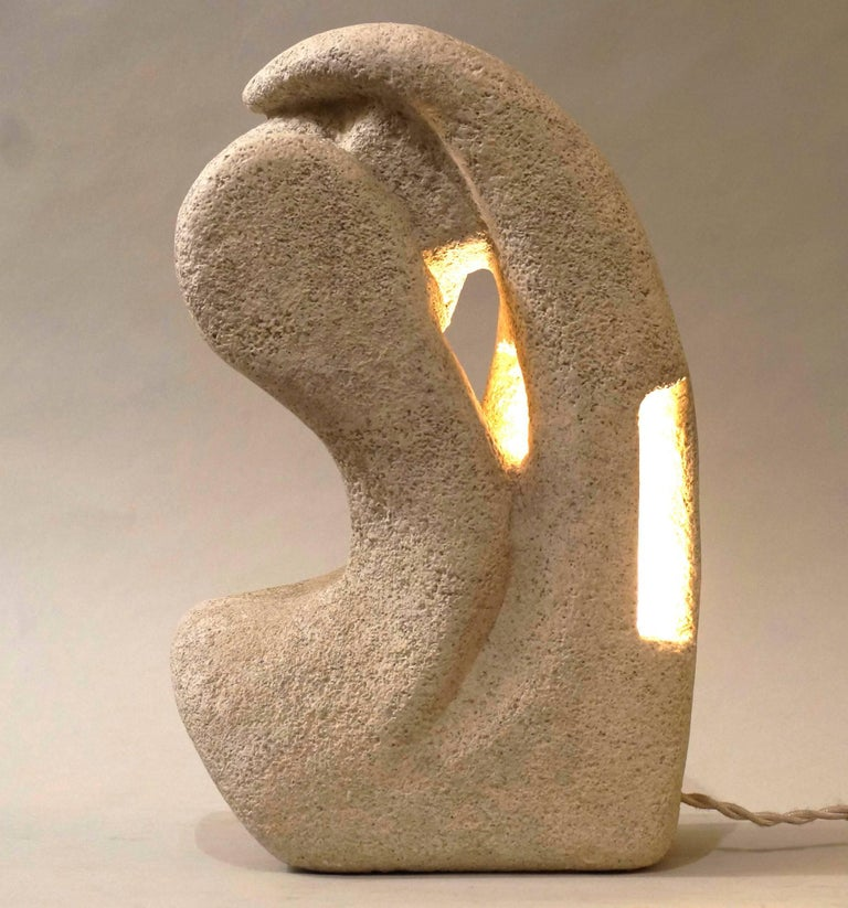 20th Century Tarnos Stone Table Lamp For Sale