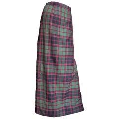 Tartan Kilt Maxi Skirt 1970s