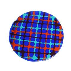 Set of 4 Tartan Placemats Blue, Matt Turquoise, Orange, Burgundy by Paola Navone
