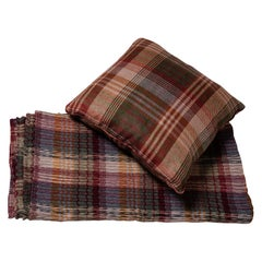 Tartan Set Sofa Cover or Plaid with Pillow by Mulberry