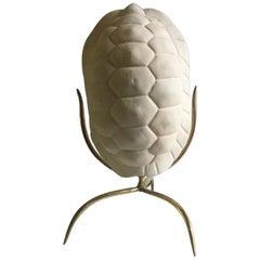 """Tartaruga Lamp"", Nicolas Alvis Vega, 20th Century Ceramic and Brass Table Lamp"