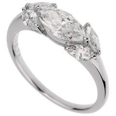Tasaki Marquise Diamond Platinum Band Ring